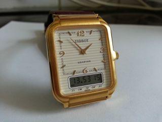 Tissot Seastar Two Timer Chronograph Alarm Neuwertig Aus Sammlung Bild