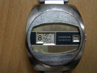 Orig.  Dugena Digital Automatic Scheibenuhr 70iger Jahre Uhr Herren Armbanduhr Bild
