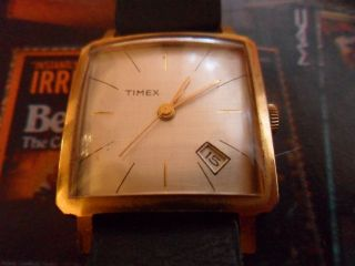 Timex Sammleruhr Vergoldet Vintage Bild