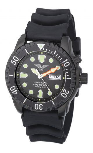 EichmÜller Taucheruhr Ep848 Armywatch 1000 M Edelstahl Ip Helium Ventil Seiko Vx Bild