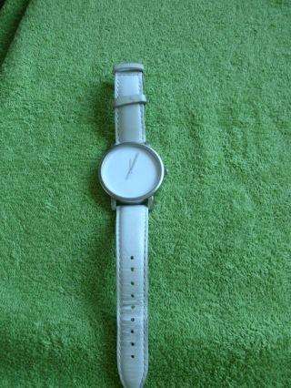 Armbanduhr Timex Weiß - Edelstahl,  Getragen,  Läuft Top Bild