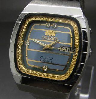 Tv Square Orient Crystals Gehause Automatik Uhr Tag Und Datumanzeige 21 Jewels Bild