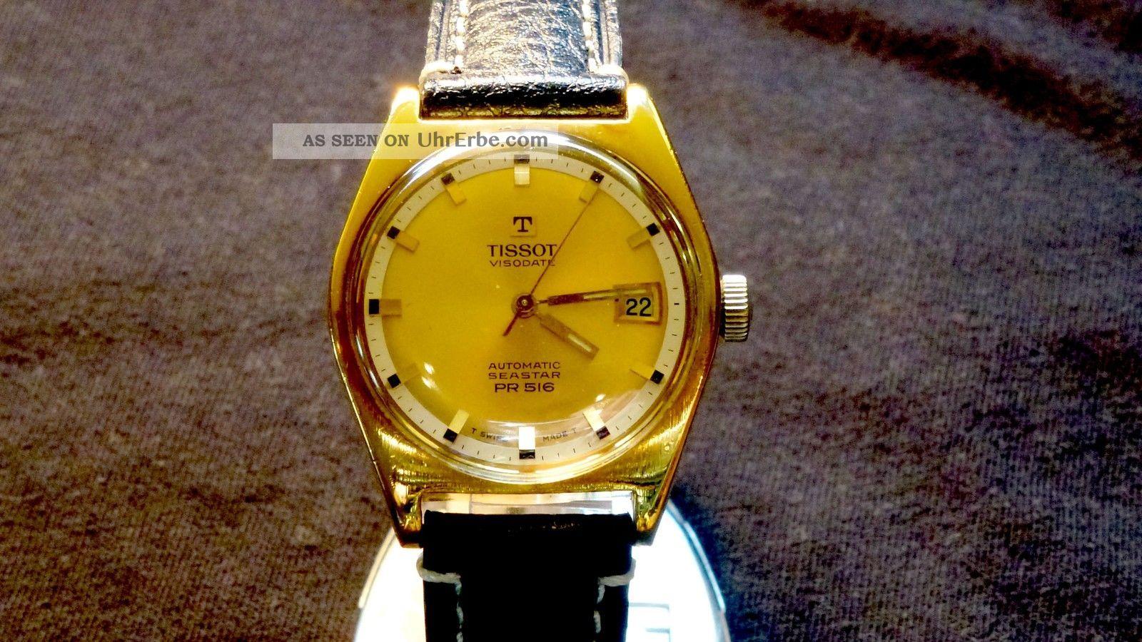 Vintage Automatic Tissot Visodate Seastar Pr 516 Armbanduhren Bild