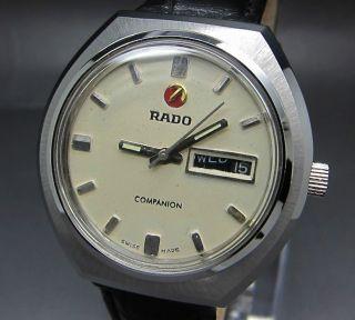 Weiß Rado Companion 25 Jewels Mit Tag/datumanzeige Mechanische Uhr Bild