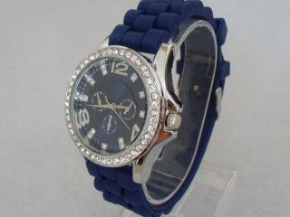Schöne Armband Uhr Chrono Mit Steinen Aus Sammlung Ungetragen Bild