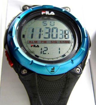 Fila Lcd Multi - Funktionsuhr Sportuhr Chronograph,  Alarm,  52 Mm Bild