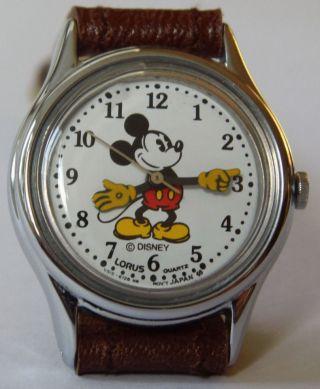 Vintage Disney Mickey Mouse Armbanduhr Sammler RaritÄt Arme Als Zeiger Bild