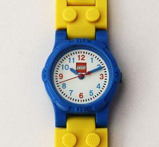 Kinderuhr Lego Kunststoff Blau Grün Rot Gelb Pc21j Werk Mit Neuer Batterie.  Top Bild