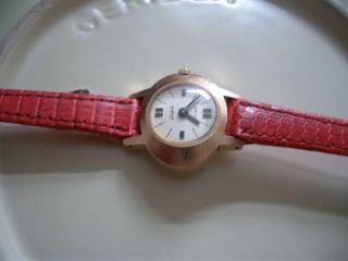 Gub Glashütte Vintage Damen Armbanduhr 17 Rubies Und 14 Karat Gold Bild