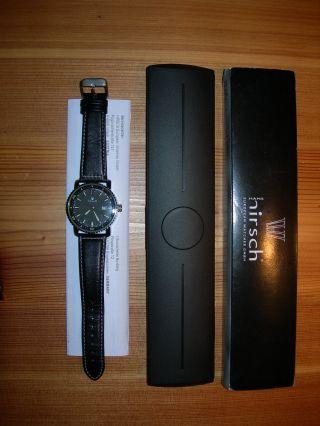 Sky Pilot Hans Hirsch Herren Flieger Armbanduhr Datum Tachymeter Bild