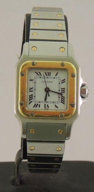 Damenuhr Cartier Santos Stahl Gold Automatik Bild