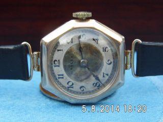 Damenuhr,  Rolex,  Handaufzug,  Massiv Gold,  9ct,  9 Karat,  Läuft,  Rotgold Bild