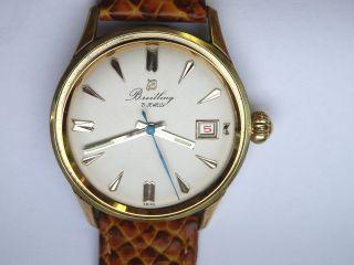 18k Verg.  Breitling Bidynator Chronometer Uhr Ww2 Felsa 692 Bild