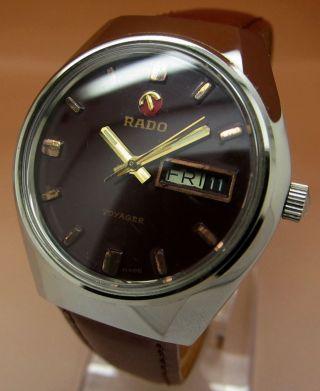 Rado Voyager Glasboden Mechanische Atutomatik Uhr 17jewels Datum&tag Lumi Zeiger Bild