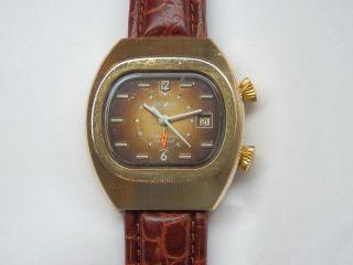 18k Verg.  Sicura Bei Breitling Alarm Cricket Herren Uhr Kaliber As 1931. Bild