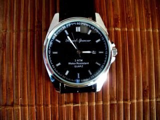 Edle Quarz Armbanduhr Royal Spencer Datumsanzeige & Seiko Uhrwerk,  3tm, Bild