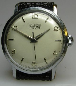 Alte Junghans 93/1 Herrenarmbanduhr Aus Den 50er Jahren Bild