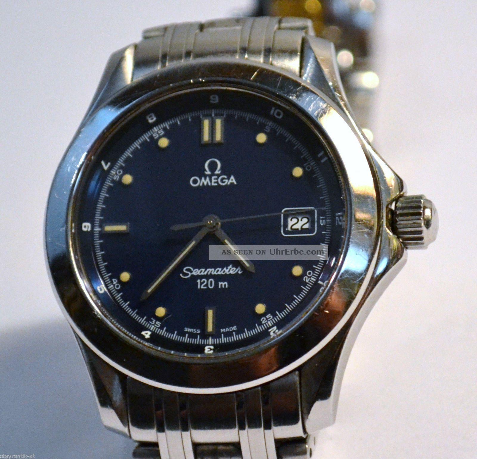 Omega Seamaster Herren Armbanduhr 120m Quarz Edelstahl Herrenuhr Armbanduhren Bild