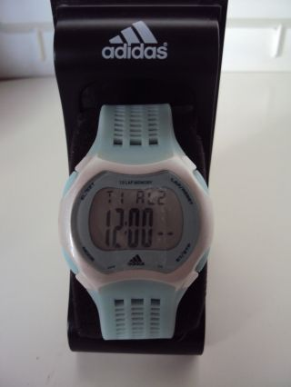 Adidas Lcd Sport Armbanduhr Chronograph Timer Alarm Bild