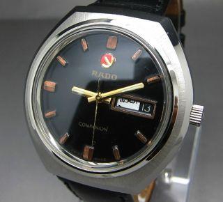 Scharzer Rado Companion 25 Jewels Mit Tag/datumanzeige Mechanische Uhr Bild