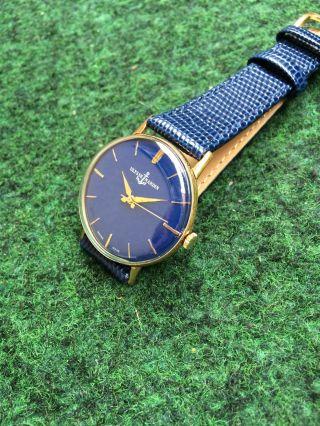 Herrenuhr Ulysse Nardin Uhr Handaufzug Valjoux 72 - 4 Vintage Watch Swiss Militär Bild