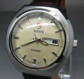 Weißer Rado Voyager 25 Jewels Mit Tag/datumanzeige Mechanische Automatik Uhr Bild