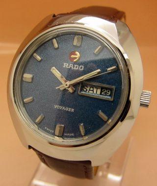 Rado Voyager Mechanische Atutomatik Uhr 21 Jewels Datum & Tag Lumi Zeiger Bild