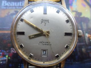 Vintage Gama Automatic Rar Selten Uhr 25 Rubis Vergoldet Bild