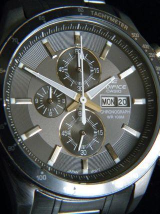 Casio Herrenuhr Edifice Efr - 502d - 8avef Chronograph & Ungetragen Lp: 139 €uro Bild