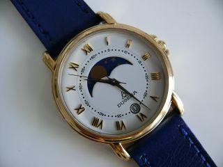 Dugena 1907 708 40241 Herren Mondphasen Armbanduhr 5 Atm Wr Watch Ovp Bild