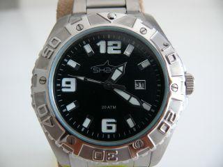 Shark 2 - Tv2411 Herren Taucher Flieger Scuba Armbanduhr 20atm Swiss Eta Bild