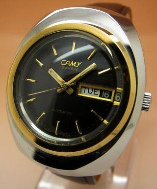 Camy Geneve Mechanische Uhr Datum & Tag Lumi Zeiger Bild