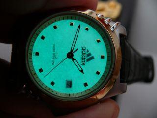 Adidas 10 - 0024 Illuminator Licht Herren Flieger Armbanduhr 100 Meter Wr Bild