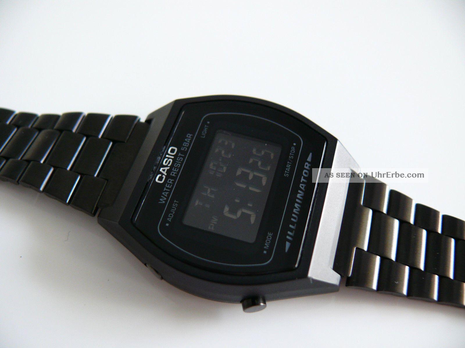 casio b 640w 3294 schwarz led herren armbanduhr watch. Black Bedroom Furniture Sets. Home Design Ideas