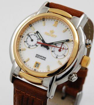 Poljot Chronograph Herren Armbanduhr Handaufzug Russia Watch Bild