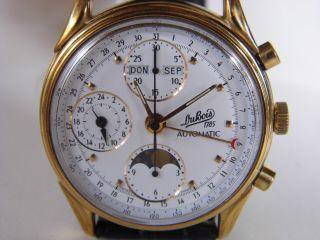 Herrenuhr Dubois Chronograph Triple Vollkalender Cal.  Eta - Valjoux 7751 Vergoldet Bild