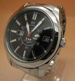 Orient 21 Jewels Mechanische Automatik Uhr Datum & Taganzeige Bild