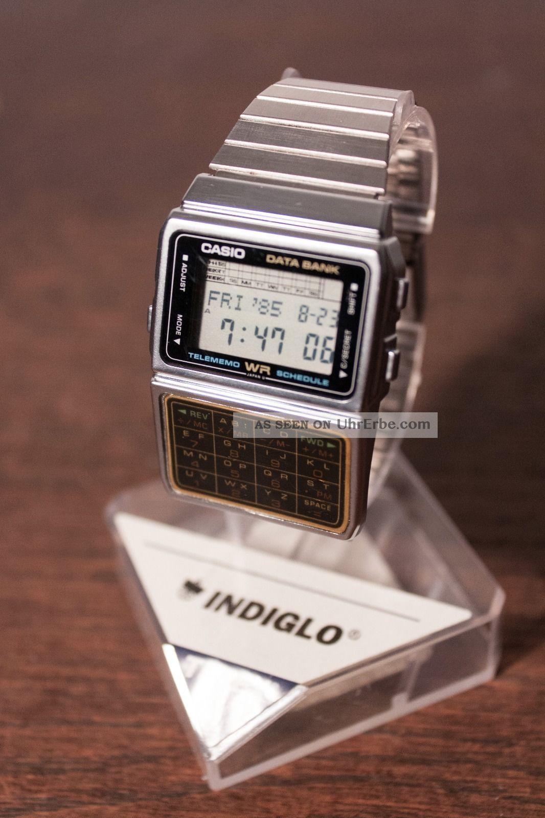 casio uhr mit taschenrechner retro edelstahl armbanduhr. Black Bedroom Furniture Sets. Home Design Ideas