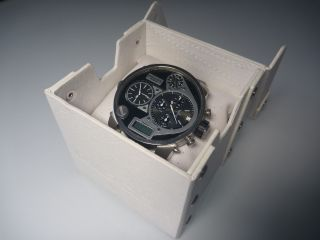 Diesel Dz7125 Herrenuhr Xxl Chronograph 4 Zeitzonen Stoppuhr Quarz Uhr Wie Bild