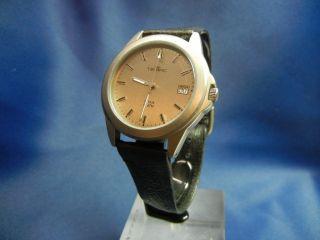 Tempic Sehr Leichte Titan Uhr Quartz Mit Titanband Und Lederband Zb Grau Bild