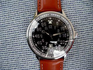 Edle Fliegeruhr Airborne Datumsanzeige,  Japanisches Marken - Uhrwerk,  3atm, Bild