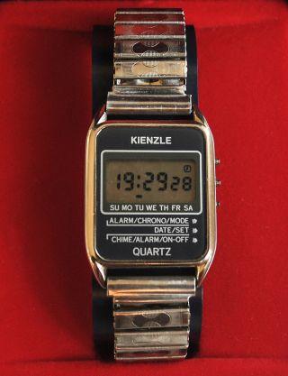 Nos Kienzle Quartz Digital Lcd 236215 Ungetragenes Vintage 70er Bild