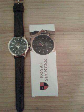 Edle Quarz Armbanduhr M.  Datumsanzeige & Seiko Uhrwerk,  Goldf.  GehÄuse,  3tm, Bild
