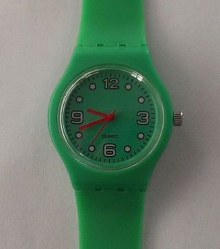 Uhr,  Quarz,  Silikon,  Grün,  Sekundengenau Ablesbar Bild