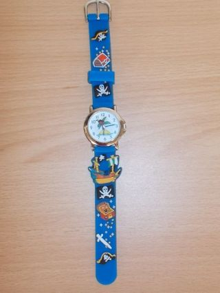 Armbanduhr Kinder,  Blau,  Piraten,  Jungen,  Pacific Time Bild