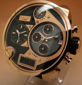 Diesel Sba Big Daddy Dz7261 Chronograph 4zeitzone Chronograph Stoppuhr Quarz Uhr Bild