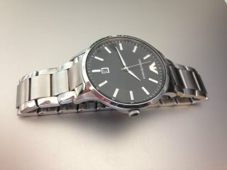 Emporio Armani Ar - 2457 Herren Arm Band Uhr Silber Edelstahl Christ Ovp Bild