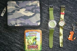 Flik Flak Uhr,  Kinderuhr,  Pokemon,  Federtasche,  Flik - Flak Swiss Made,  Cassisi Bild