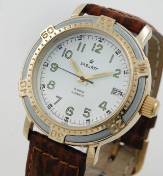 Poljot Automatic Herren Armbanduhr Russia Watch Bild