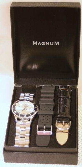 Magnum Uhr Uhrenset Armbanduhr Mit 2 X Wechselarmbänder Ovp Bild